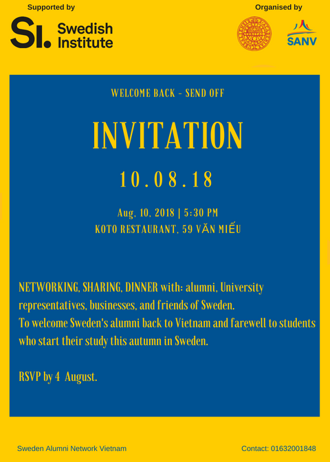 Hanoi: Welcome Back - Send Off event