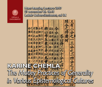 The Hans Rausing Lecture 2017 – Karine Chemla